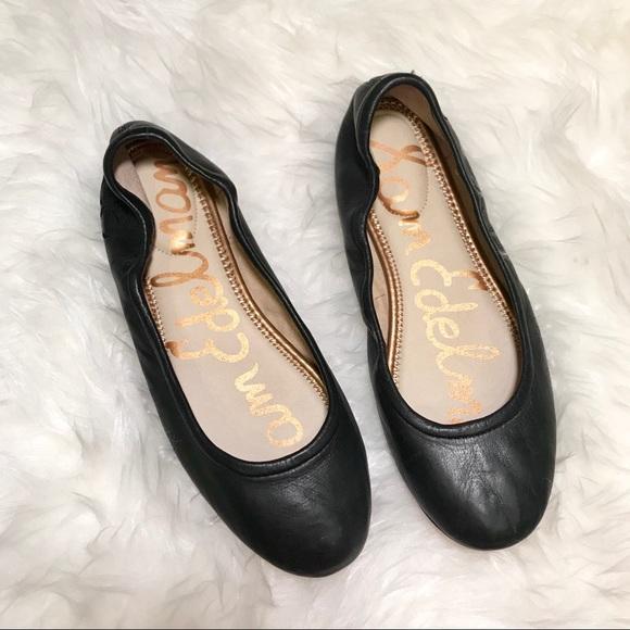 333aee16e914fb Sam Edelman Fritz Leather Ballet Flat Sz 7 Black. M 5b9c75507386bc1bc52cb7b7